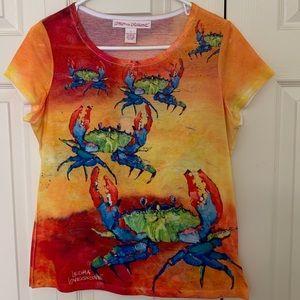 Leoma Lovegrove , Feeling Crabby, EUC Size M Shirt